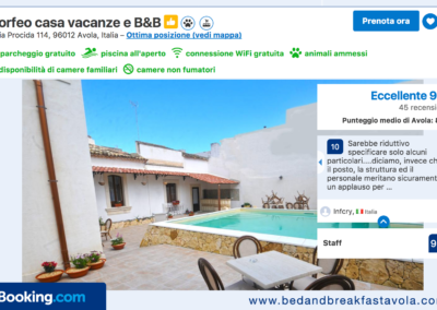 Booking_punteggio-best_b&B_Avola_Morfeo_punteggio_guest_